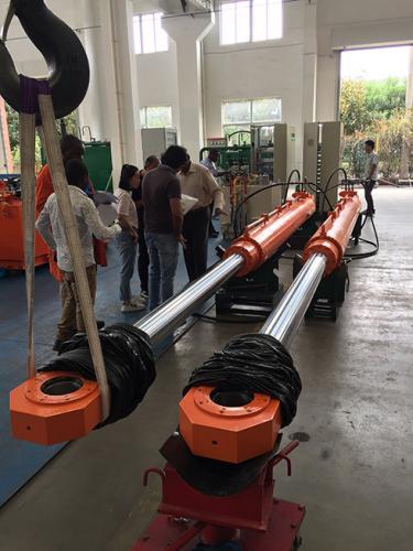 Radial gate hyd cylinders